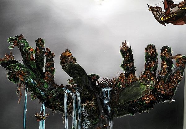 Thema: Metamorphose Hand zu Landschaft